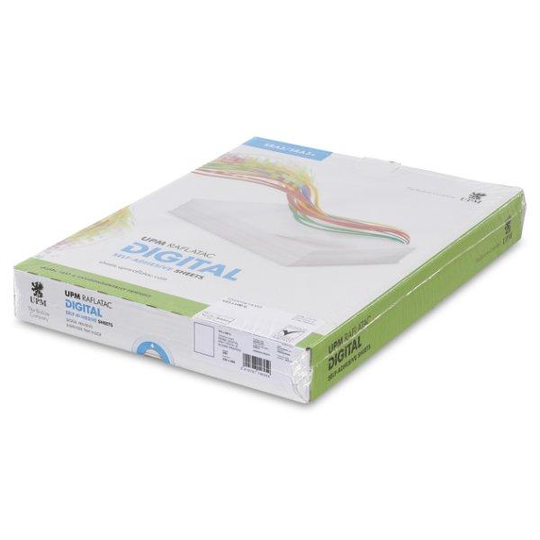 Adhesif couche mat - UPM Raflatac Vellum IL- Certifie HP Indigo - Antalis