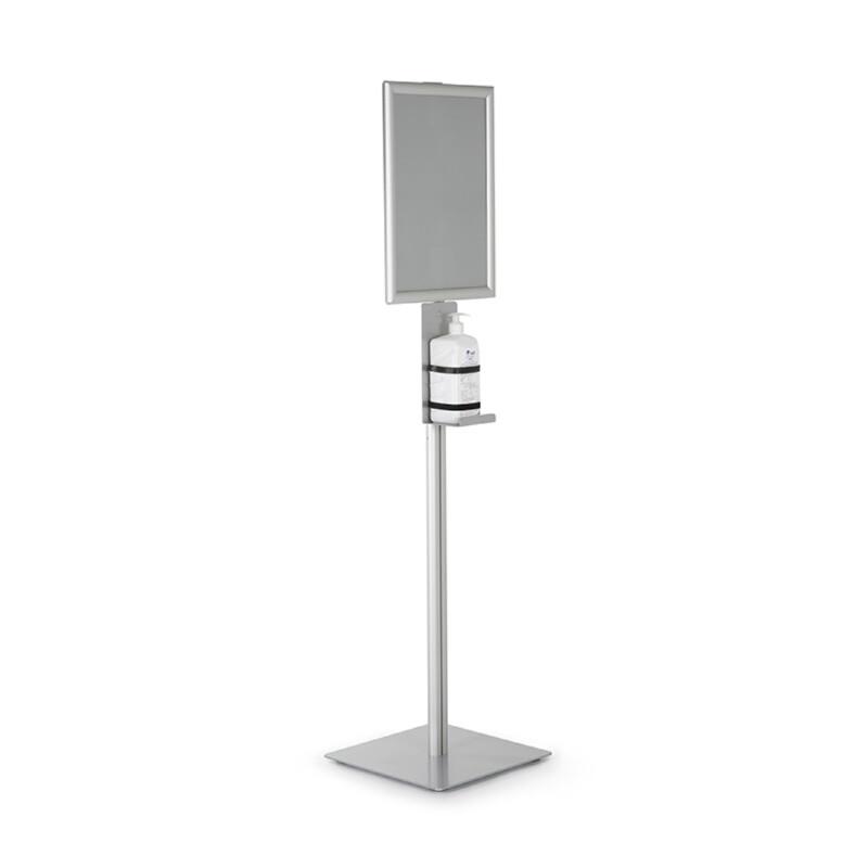 Distributeur sur pied aluminium de gel hydroalcoolique - Antalis