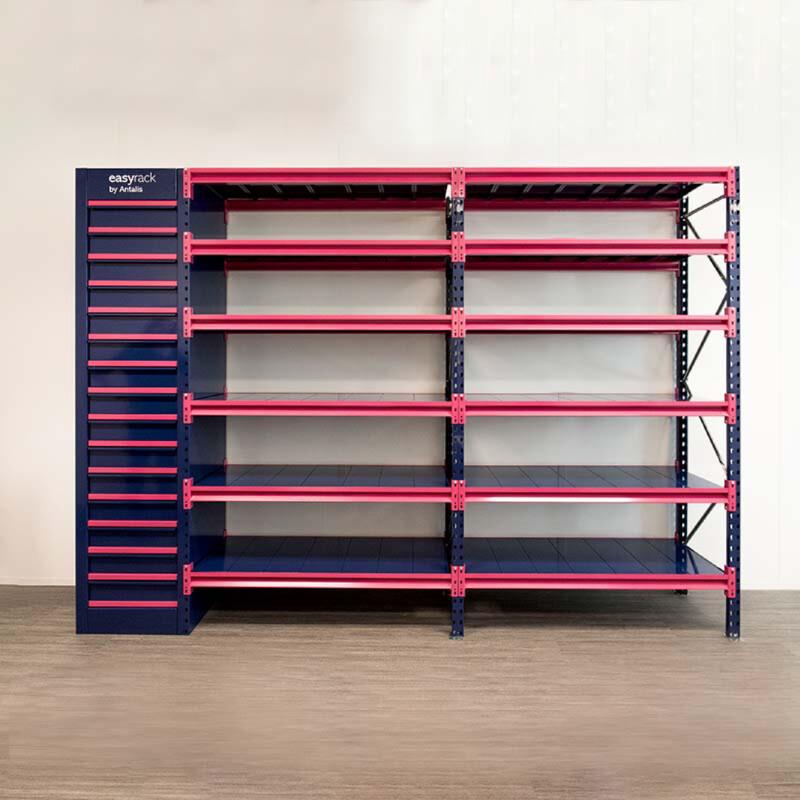 Easyrack ; solution de stockage pour les imprimeurs; Organisation du stockage papier ; Solution modulaire ; Antalis