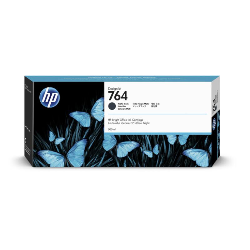 HP 764 Noir Mat Ink 300ml