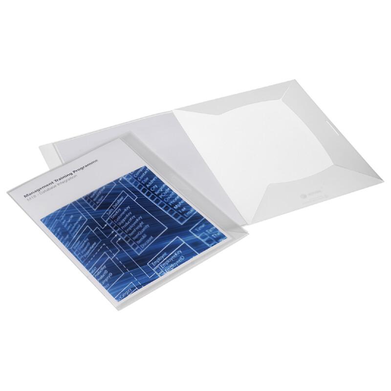 Personnaliser ses chemises 3 rabats- format A4- Xerox Create- Impression Laser couleur et Noir et blanc- Polypropylene - 100% recyclable