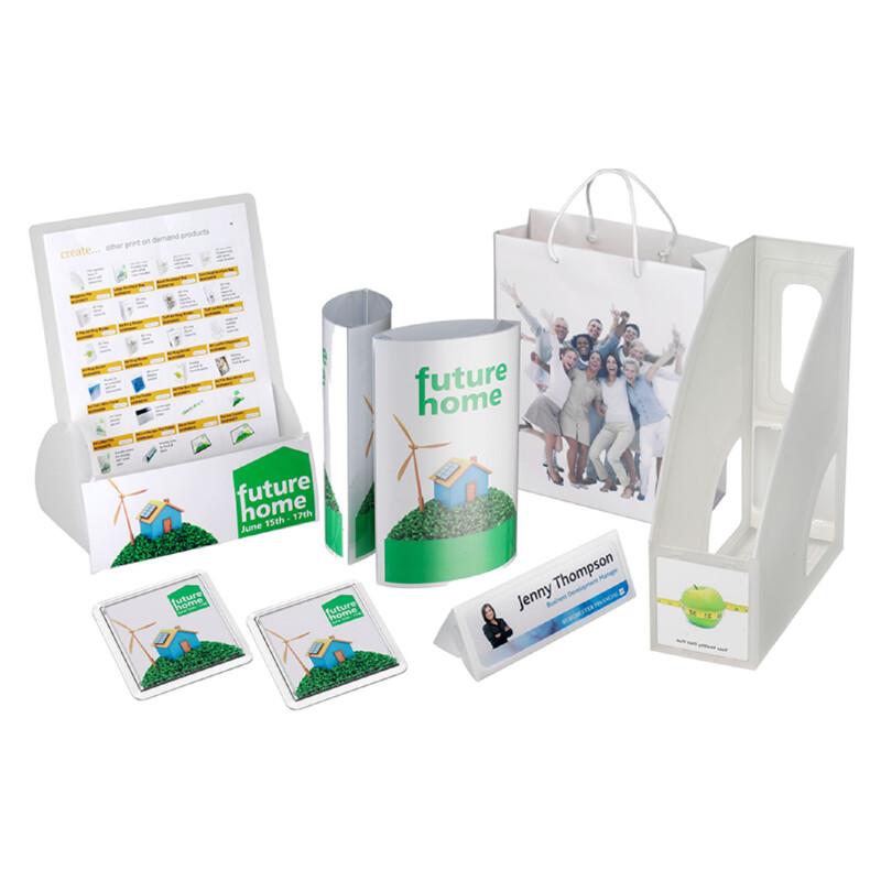 Pack de demonstration Xerox Create- Classeur- dossier- chemise- Badges- Sacs -personnalisable avec votre imprimante- Pack de test- Xerox - Antalis