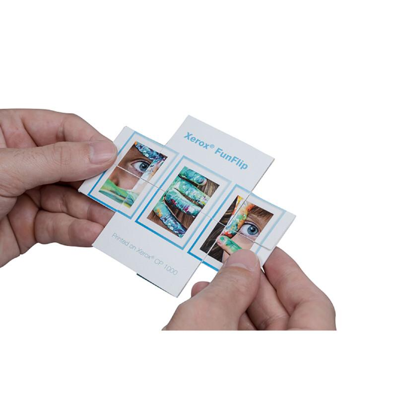 Carte d'invitation - Xerox FunFlip- Imprimable laser- Xerox -003R96904- boite de 100 feuilles- Antalis