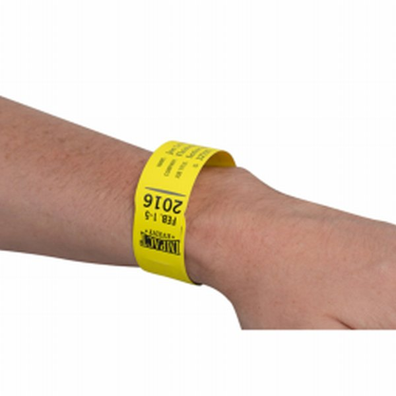 Film polyester pre-decoupe en bracelet- Xerox Premium NeverTear Wristbands- Impression de bracelets resistants- Impression numerique- bracelet pour evenements- Antalis