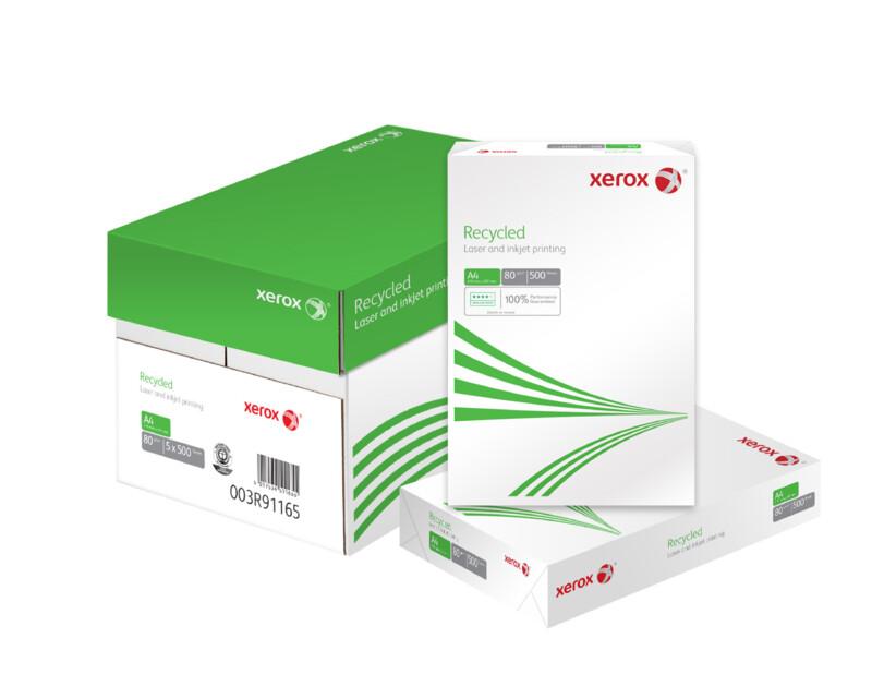 Papier Xerox Recycle - Papier reprographique 100 % recycle - Opacite eleve - Impression Laser Monochrome et couleur - A4 - A3 - Antalis