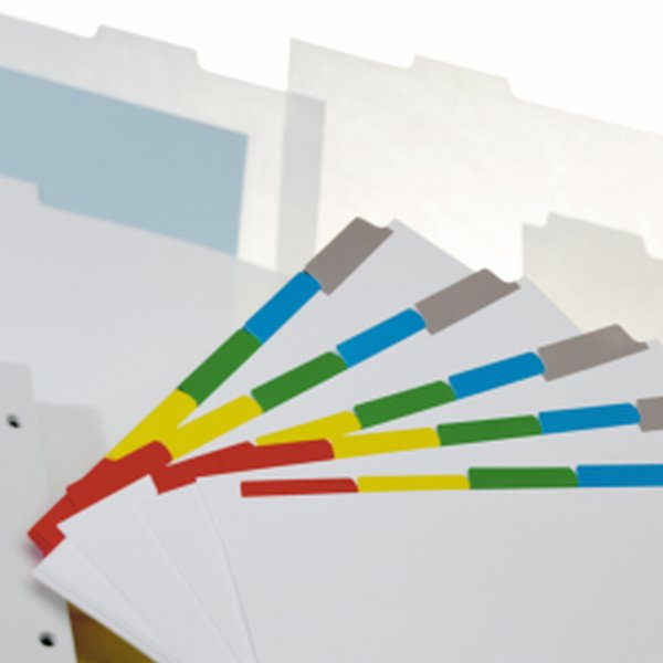 Intercalaires à onglets plastifies Ordre Inverse- Xerox- intercalaire 5 positions- Produit certifie Xerox - 003R97229 - Antalis