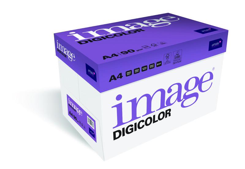 Image- Digicolor- blanc- Papier copieur sans bois-ECF- A4- 90g - carton de côte Gauche- Antalis