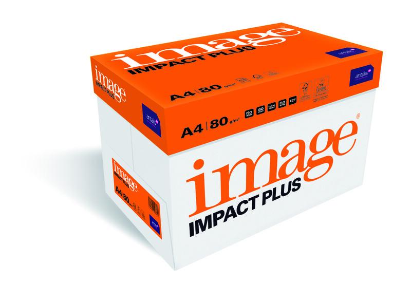 Papier copieur Image Impact Plus- A4 - 80g - FSC - Ramette vue de droite - Antalis