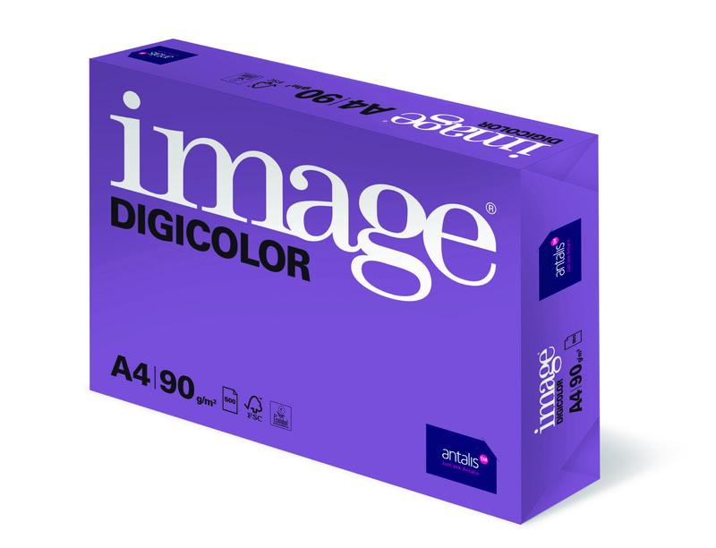 Image- Digicolor- blanc- Papier copieur sans bois-ECF- A4- 90g - Ramette de côte Gauche- Antalis