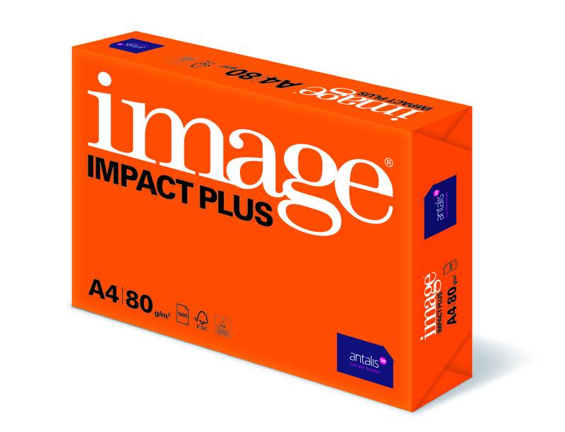 Papier copieur Image Impact Plus- A4 - 80g - FSC - Ramette vue de Gauche- Antalis