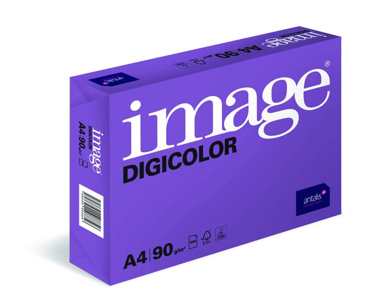 Image- Digicolor- blanc- Papier copieur sans bois-ECF- A4- 90g - Ramette de côte droit- Antalis